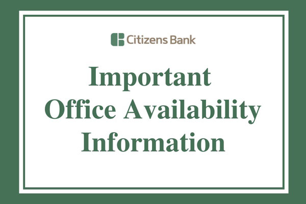 Important Branch Office Closure Notification Related to COVID-19