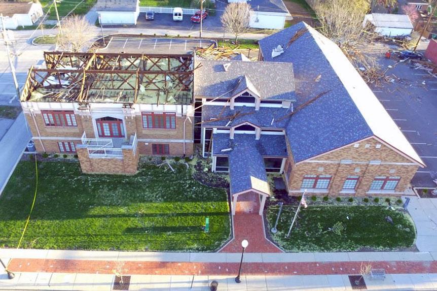 Citizens Bank damaged by tornado